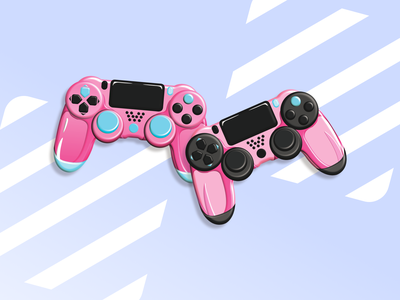 PS4 controllers pad illustration vector design controllers ps4