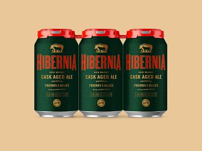 Hibernia Beer Label Design (RIP) type layout typogaphy jameson beer label beer beer can