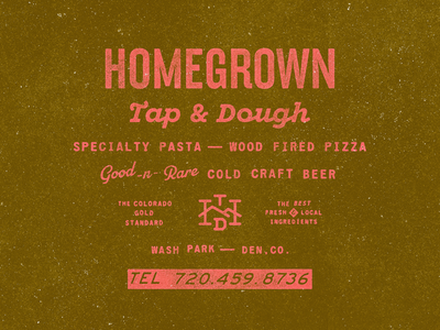 Homegrown tap and dough type bits restaurant branding restaurant beer pasta pizza logo brand branding typography type