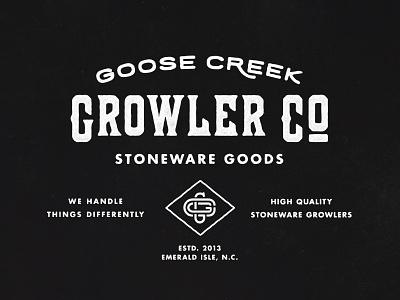 GCG005 - Goose Creek Growler Company Logo monogram type logo
