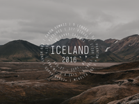 Iceland Travel Badge