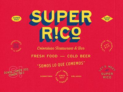 Super Rico Scraps vector design texture typography branding type badge logo