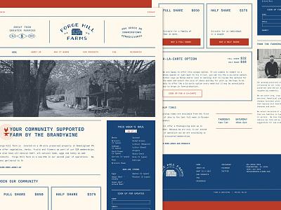 Forge Hill Farms Website design uiux brand identity branding typography website design webdesign website