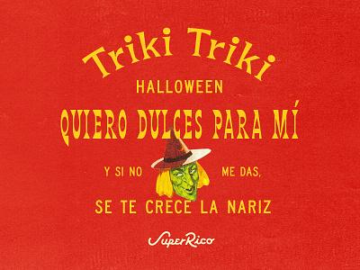 Super Rico Halloweeny Insta Post type lockup halloween texture type branding typography