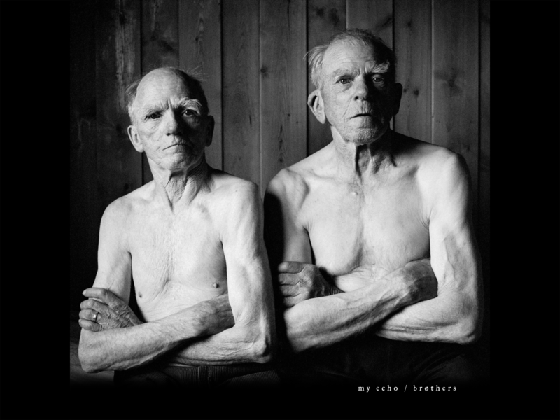 Album cover artwork | Brøthers by My Echo music rock and roll norway nostalgia black and white noir typogaphy album artwork album cover album art photography design australia
