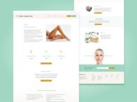 WIP website design for a Melbourne salon beauty wip health skincare salon figma website typography design melbourne australia