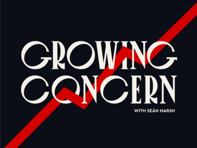 Logo design for my new podcast: Growing Concern logo branding renewable energy nature science politics climatechange sustainability sustainable podcast