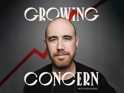 Cover art for my new podcast: Growing Concern cover art branding climate change melbourne renewable energy sustainability typography design australia podcast