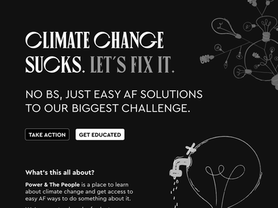 WIP climate change solutions project climatechange webflow climate change renewable energy sustainability typography design australia