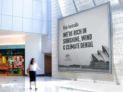 If Australian politicians were honest billboard tourism cop26 climate crisis climate change australia