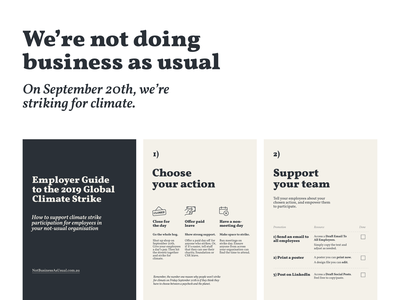 We're not doing business as usual figma typography climate strike climate change renewable energy climatechange sustainability design australia