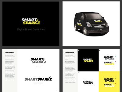 Smark Sparkz | Brand Guidelines local business tradesman logo branding typography melbourne design australia