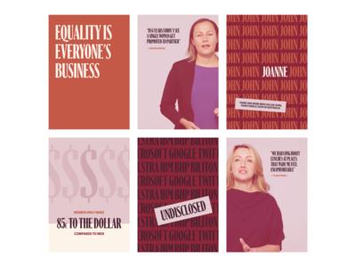 Gender Equity by Future Super (WIP) work in progress gender equality equality design australia