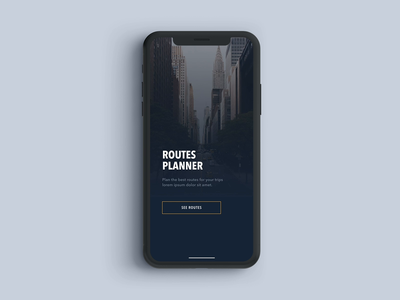 Routes planner prototype - iPhone X prototype routes ui ux typography travel minimal iphone ios guides animation design concept clean city app