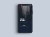 Routes planner prototype - iPhone X