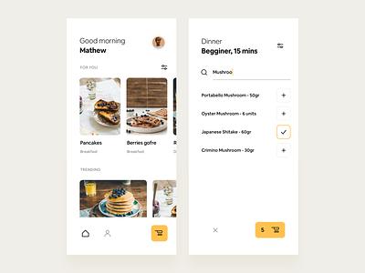 1, 2 or 3? vector flat recipe app recipe typography app ux iphone ui clean minimal ios design concept