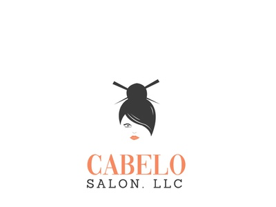 Saloon illustration ui logo design