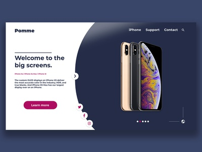 Web Design - Pomme iphone illustration limage de marque conception webdesigner le web ux ui