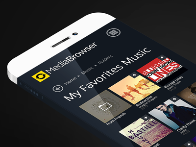 Media Browser music player video player responsive web web app media bootstrap streaming