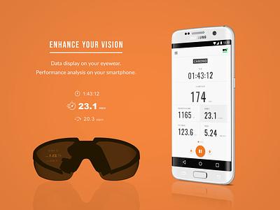 App pour lunettes connectées mobile app ux designer ui deisgn design app eyewear sport app android app app iot