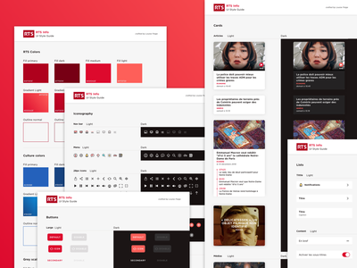 RTS - Design System cards colors styleguide design system ui design ui design app mobile app