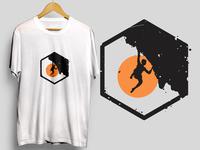 Climb logo for tshirt