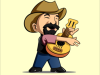 Guitarist character