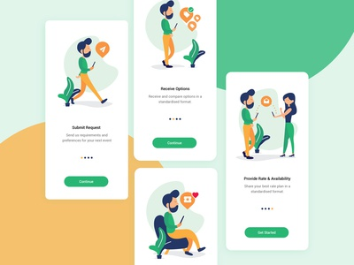 Onboarding Screens -  Event Booking App