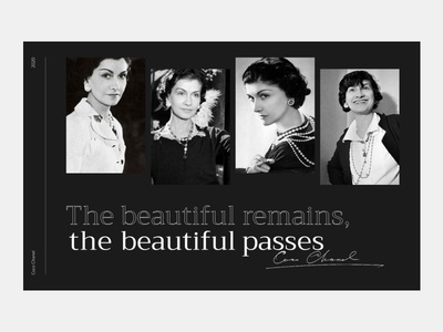 Coco Chanel dlchallenge dlweekly designline website ui web-design landing page