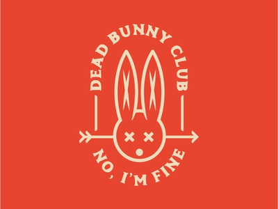 Dead Bunny Club #01 club dead doodle bunny design icon logo illustration