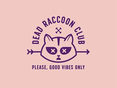 Dead Raccoon Club #03 raccoon vector illustration dead doodle club