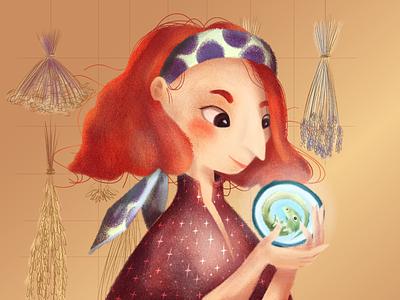 Birth of the new familiar: the green dragon digital art digital herbalist witchcraft witch magic fairytales digital painting illustration