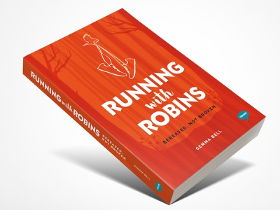 Running With Robins bookcover design book cover design illustration vector typography