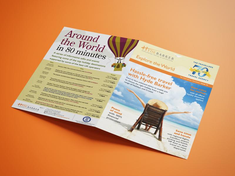 A4 newsletter Hyde Barker Travel graphicdesign design logo newsletter