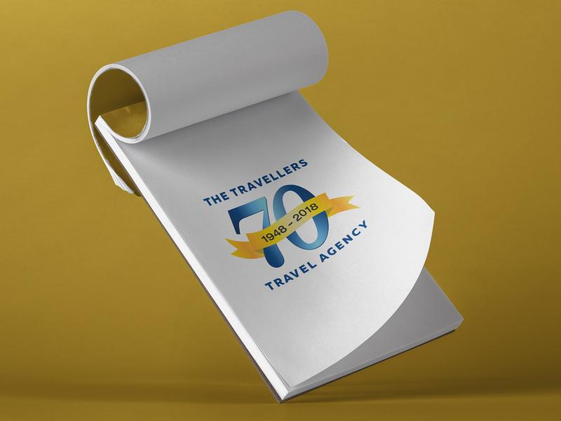 70 Year Anniversary Logo graphic design logo design branding logo design typography
