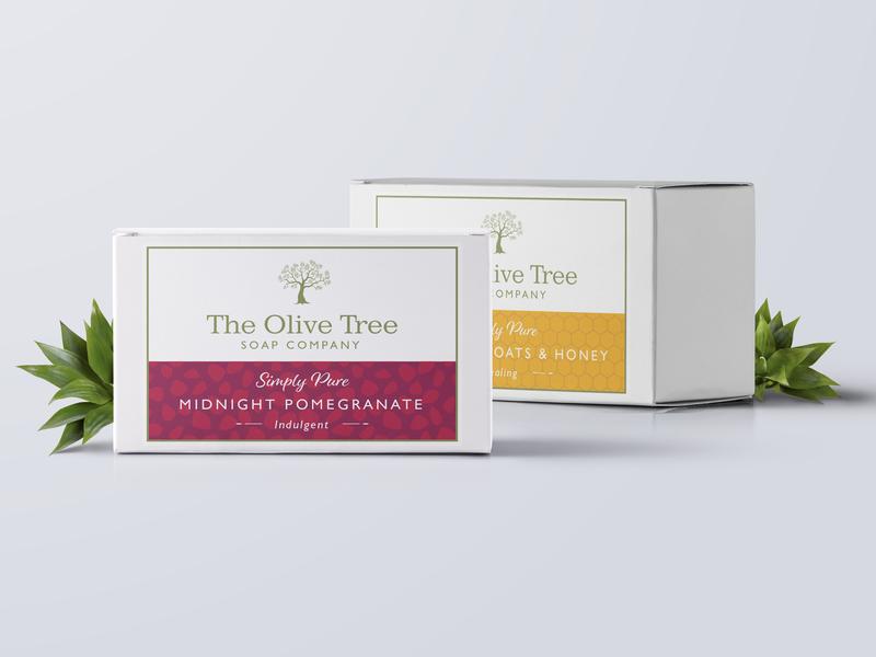 Olive Tree Soaps 2 branding logo packaging mockup packaging design packaging