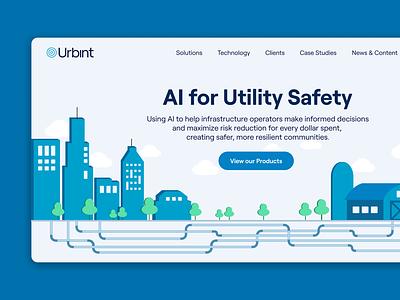 Urbint Website Redesign illustration figma ux product design design ui branding