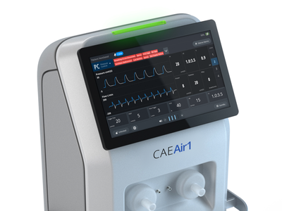 CAEAir1 Ventilator released actual product user inteface ventilator