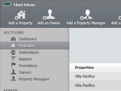 Fluid Admin ui user interface dan maitland
