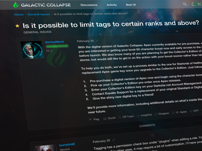 Galactic collapse theme