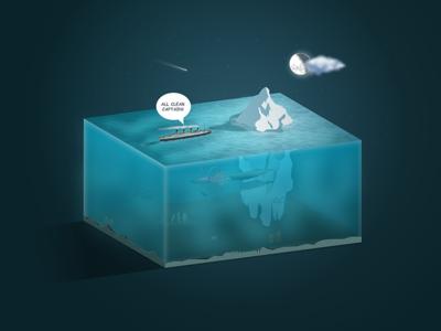 Titanic Mistake iceberg ocean boat titanic cutout
