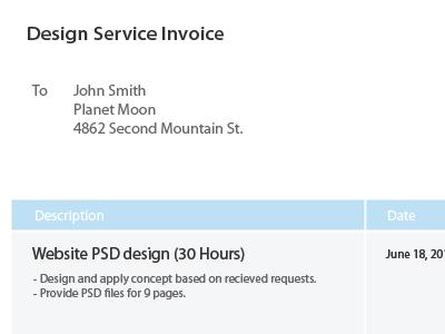 Freebie: Design Invoice