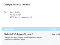 Freebie: Design Invoice