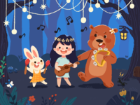 The animals' forest party