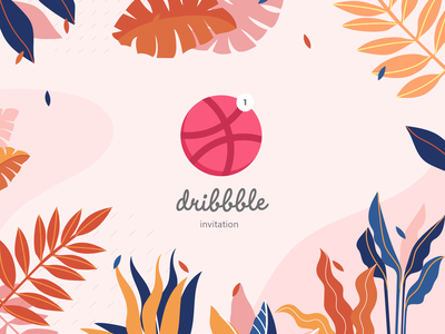 Dribbble Invite dribbble invitation invitation card adobe xd ui design dribbble invite