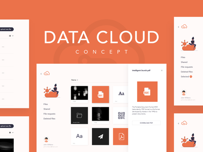 Data Cloud Dashboard UI uidesign logo concept design ui app design invision adobe xd dashboard design uxdesign interaction design ui design