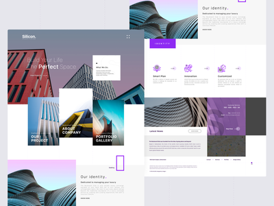 Asymmetric Layout - Architecture asymmetric dribbble ui uidesign interaction design marketing site architecture website architecture design landingpage concept design uxdesign adobe xd ui design 2020 trend clean ui
