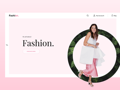 Fashion - Hero Banner landing page design shopping fashion brand fashion fashion design uxdesign design branding interaction design ui concept design uidesign adobe xd ui design
