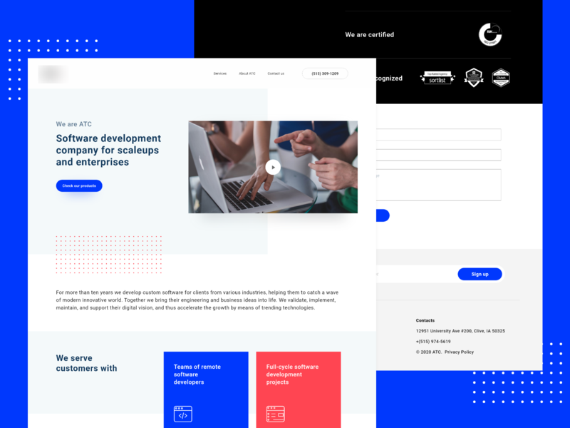 SAAS Landing page uxdesign uidesign website webdesign website design ui design interaction design adobe xd enterprise ux saas