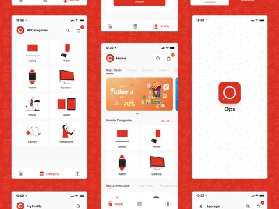 Online Shopping App design concept design uidesign adobe xd ecommerce app online shopping shopping app app design interaction design ui design